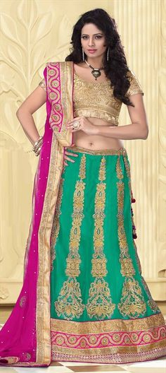 GO GREEN! Check out the new collection of bridal wear in green. #Bride #lehenga #IndianWedding #OnlineShopping