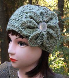 Teen/Women's Sage Green Speckled Crochet by ThatsKnotLove on Etsy