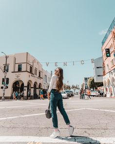 Image may contain: 1 person, sky, shoes and outdoor Venice Beach California, Los Angeles California, California Style, Travel Pictures Poses, Poses For Pictures, Portrait Photography Poses, Photography Poses Women, Best Photo Poses, Picture Poses
