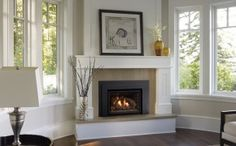 Corner Gas Fireplace Insert Designs | Regency Liberty L540E | Hearth and Home