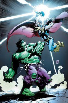 Hulk vs. Thor - Avengers Fan Art