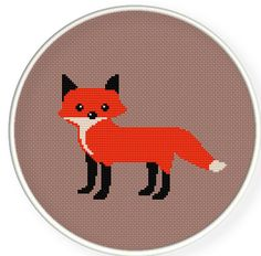 Buy 4 get 1 free ,Buy 6 get 2 free,Counted Cross stitch pattern,Cross-Stitch PDF,Red fox ,ZXXC0269. $4.00, via Etsy.