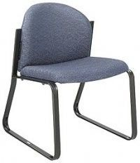 Safco - Armless Forge Reception Chair With Black Steel Frame-7980