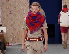 Louis Vuitton Men's Spring/Summer 2012: Red Scarf