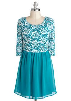 I am in love with this dress :) First Frost Dress, #ModCloth