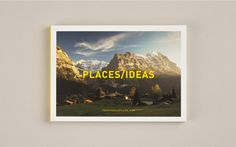 Places/Ideas. Postcard book exploring what places ideas arise from; and how exploring different places affects our thinking.