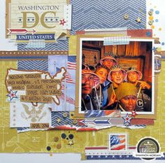Let Freedom Ring Washington DC Scrapbook Layout by Shannon Morgan Arts And Crafts, Paper Crafts, Diy Crafts, Boston Vacation, Craft Cabinet, Travel Crafts, Vacation Scrapbook, Let Freedom Ring, Scrapbook Pages