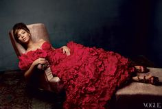 "Making Life Is But a Dream for HBO was an exercise in self-exposure. ""My story has never been told,"" she says. Oscar de la Renta carnation-red organza-and-taffeta dress with ruflle embroidery. Alexander McQueen embellished sandals."