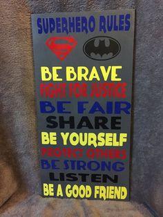 Super hero rules Superhero Rules, Superhero Bulletin Boards, Superhero Classroom Decorations, Superhero Room, Classroom Themes, Teacher Lunches, Teacher Stuff, Classroom Door Signs, School Themes