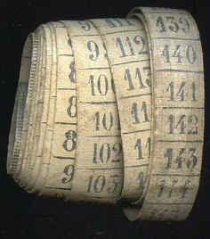 French Vintage Measuring Tape - @~ Mlle