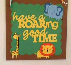Safari Zoo Jungle Door Sign Animal Decorations by TikiPartyWare, $10.00