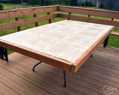 DIY tiled table top with upcycled patio table frame by Q-Schmitz ...