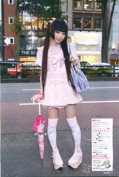 Harajuku Street Snaps from the January 2015 issue of Kera Part Tokyo Street Style, Street Snap, Harajuku Fashion, Magical Girl, Fashion Accessories, Style Inspiration, Lady, Fitness, Cute