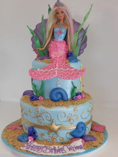 Mermaid Barbie Cake (2164) | Barbie Doll provided by client.… | Flickr