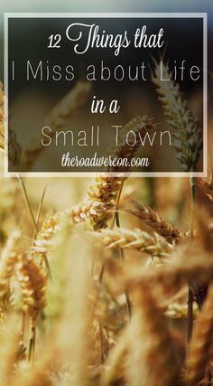 www.theroadwereon.com The Road We're On--A lifestyle blog devoted to reflecting God's presence in our everyday reality. Featuring the 12 things that I miss about life in the small town where I grew up.