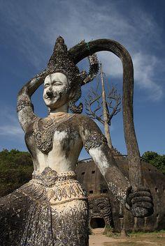 Xieng Khuan, Vientiane #Laos