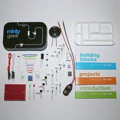 electronic lab 101 kit by minty geek | notonthehighstreet.com