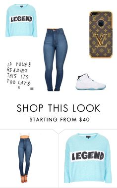"""""""Legend"""" by juss-mii ❤ liked on Polyvore featuring Retrò, Louis Vuitton and Topshop"""