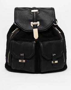 ALDO Dundas Faux Fur Backpack