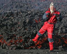 Standing on brand new fresh lava during the 2010 eruption in Iceland.  #ExtremeIceland #Extreme #Iceland #Volcano #lava