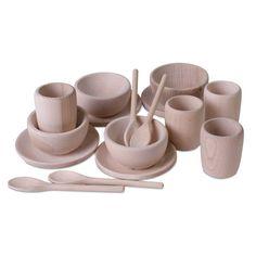 Children's Wooden Dinner Set Montessori and by TreasureToys