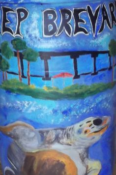 Detail on one of the rain barrels. Acrylic.