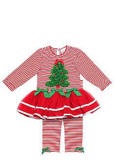 Rare Editions Christmas TuTu Dress Set