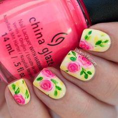 Vintage Nail Art – Stripes, Dots and Roses | Paulina's Passions | Bloglovin'