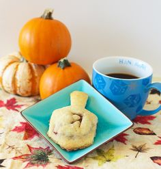 Dreidel shaped cranberry apple hand pies.