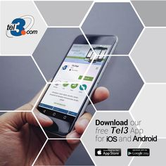 Download the #Tel3 App for free! Available now for #Iphone and #Android