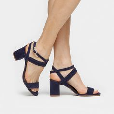 0072d2288c Compre Sandália Walkabout Salto Baixo Tranças Marinho na Zattini a nova  loja de moda online da