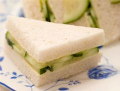 """Quick Recipes For English Tea Sandwiches--Includes recipes for """"Spicy Chicken Tea Sandwiches,"""" """"Tea Sandwiches with Tuna,"""" """"Tea Cucumber Sandwiches,"""" and """"Mini Reuben Sandwiches"""". We did (and loved) the cucumber ones. Quick Recipes, Cooking Recipes, Special Recipes, Amazing Recipes, Cucumber Tea Sandwiches, Finger Sandwiches, Party Sandwiches, Cucumber Bites, Delicious Sandwiches"""