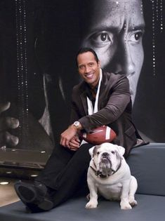 "Dwayne ""The Rock"" Johnson has excellent taste in dogs! Description from pinterest.com. I searched for this on bing.com/images"