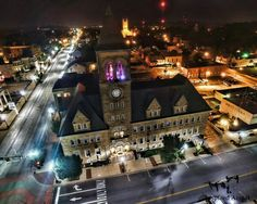 Lancaster at night