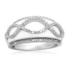 wedding rings finger , Sterling Silver Enamel Swirl Diamond Ring (1/3 cttw, I-J Color, I2-I3 Clarity) REVIEW