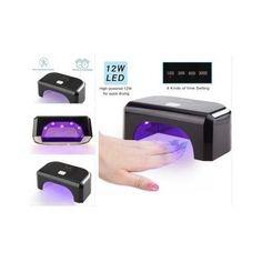 Led-Nail-Lamp-Dryer-Gel-Polish-Light-Timer-Machine-Manicure-Salon-Art-Black-Mini