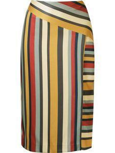 Falda midi a rayas de regaliz - Ideas - # Regaliz # en # rayas . Blouse And Skirt, Skirt Pants, Dress Skirt, Midi Skirt, African Wear, African Fashion, Cute Skirts, Skirt Outfits, Dress Patterns