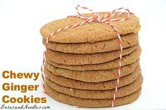 Chewy Ginger Cookies  #gingerbread #cookies: