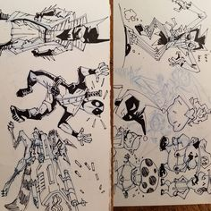 Regram Duss005 DerekFridolfs Forgets His Sketches Everywhere And They End Up In The FedEx