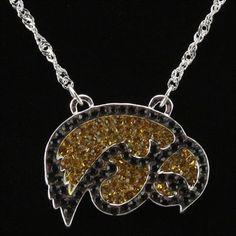 Iowa Hawkeyes Ladies Rhinestone Necklace