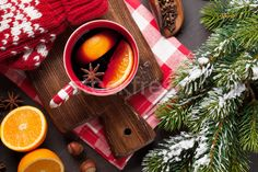 Christmas mulled wine and ingredients stock photo (c) karandaev (#7624046) | Stockfresh