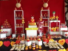 Festa Chapolin. Dad Birthday, 1st Birthday Parties, Party Planning, First Birthdays, Bakery, Table Settings, Table Decorations, Polo, Diy