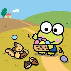 Keroppi Wallpaper, Hello Kitty, Sanrio Characters, Fictional Characters, Character Creator, Favorite Cartoon Character, Frog And Toad, Cute Cartoon Wallpapers, Little Star