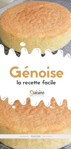 Génoise, la recette facile - 9 Cuisine French Sweets, French Pastries, Easy Desserts, Dessert Recipes, Number Cakes, Biscuits, Cake Cookies, Nutella, Base