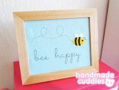 Bee Happy Felt Art W
