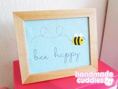 Bee Happy Felt Art W