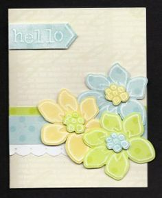 Lovely card & embossing - Lasting Impressions template # L9758 called Summer Flowers. Great job Barbara!