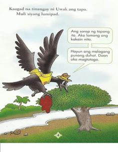 Teacher Fun Files: Si Uwak at si Asong Gubat Short Stories For Kids, Kids Stories, Tagalog Words, Visual Aids, Borders For Paper, Kids Story Books, Picture Cards, Kindergarten Teachers, Reading Material