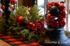 christmas tablescapes red dinner set - Google Search