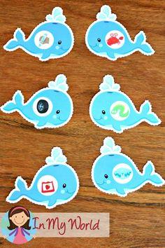 FREE Ocean Preschool Centers rhyming activity